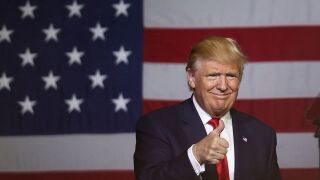 Donald Trump holds campaign rally in Grand Rapids, Michigan Monday