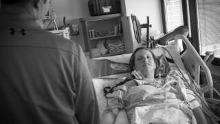 Meghan Jolliffe in hospital