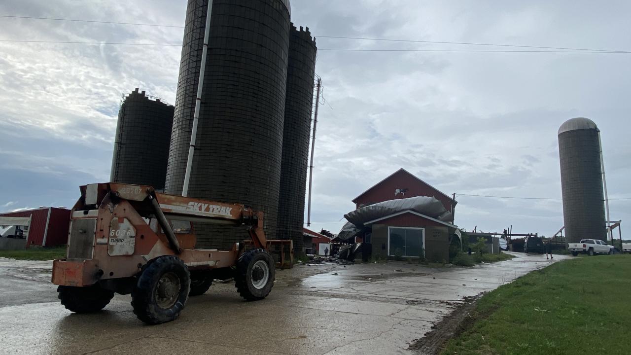Freeport Barn Destroyed storm