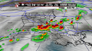 More rounds of storms likely into weekend; Flood Watch continues for all of Acadiana