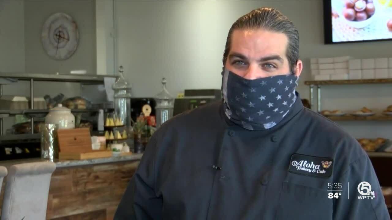 David Evans, Aloha Bakery & Cafe owner