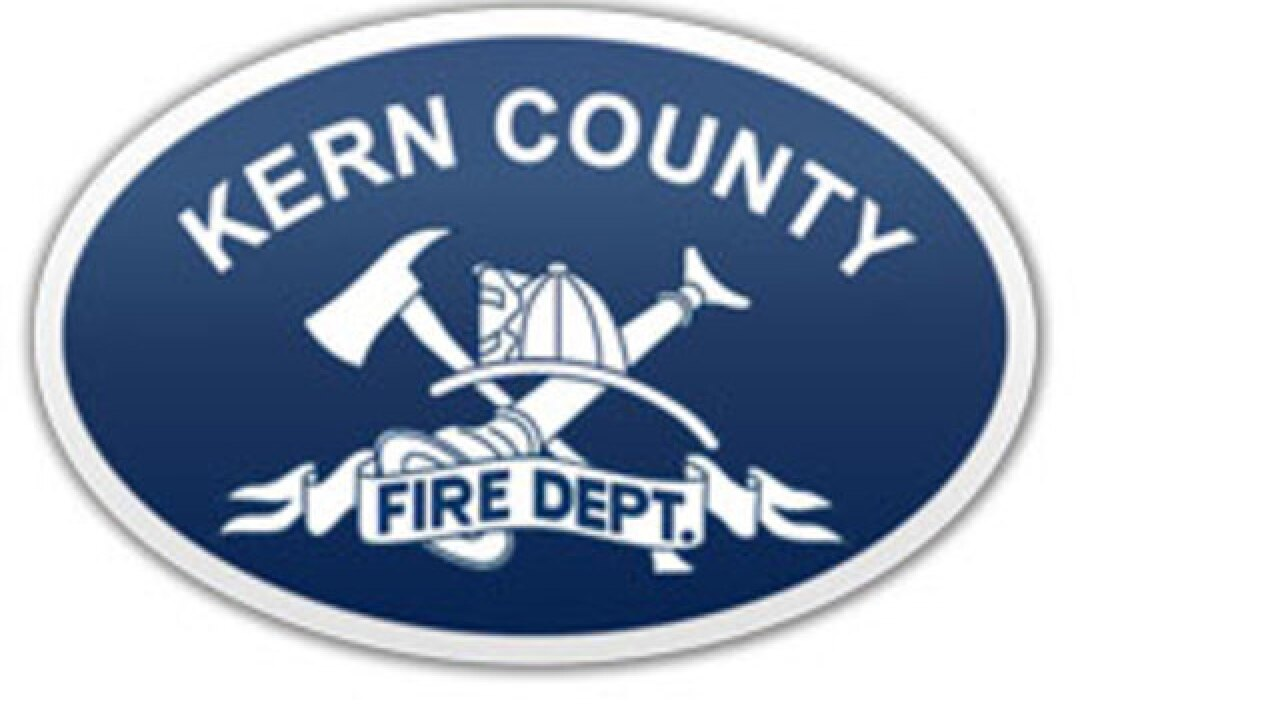 Kern County Fire responds to fire near Woody, CA