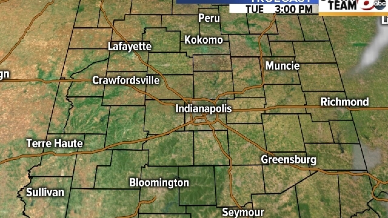 TIMELINE: Spotty showers throughout the day