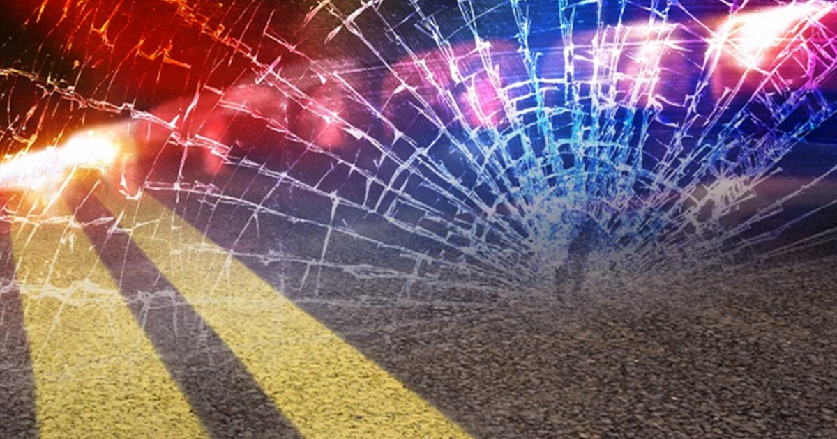 Three-vehicle crash seriously injures two