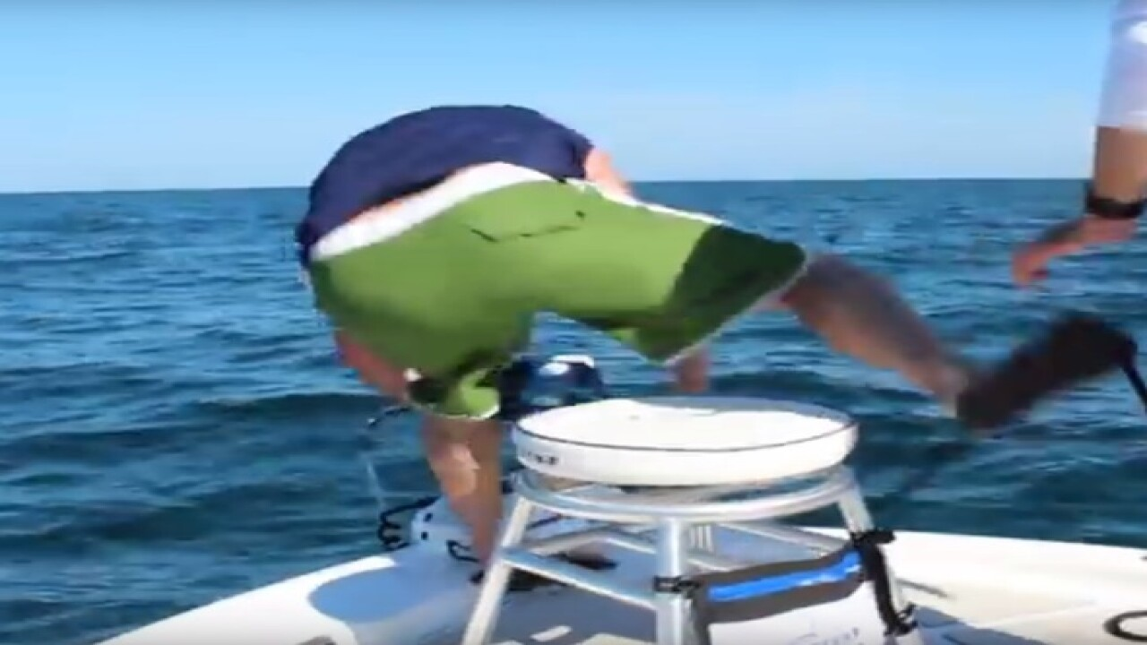 WATCH: Florida fisherman pulled off boat by goliath grouper