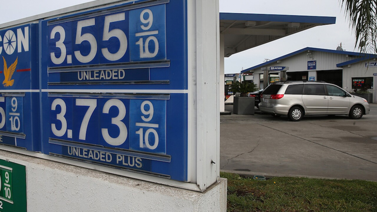 Gas prices continue to plummet