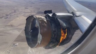 united airlines flight denver engine failure