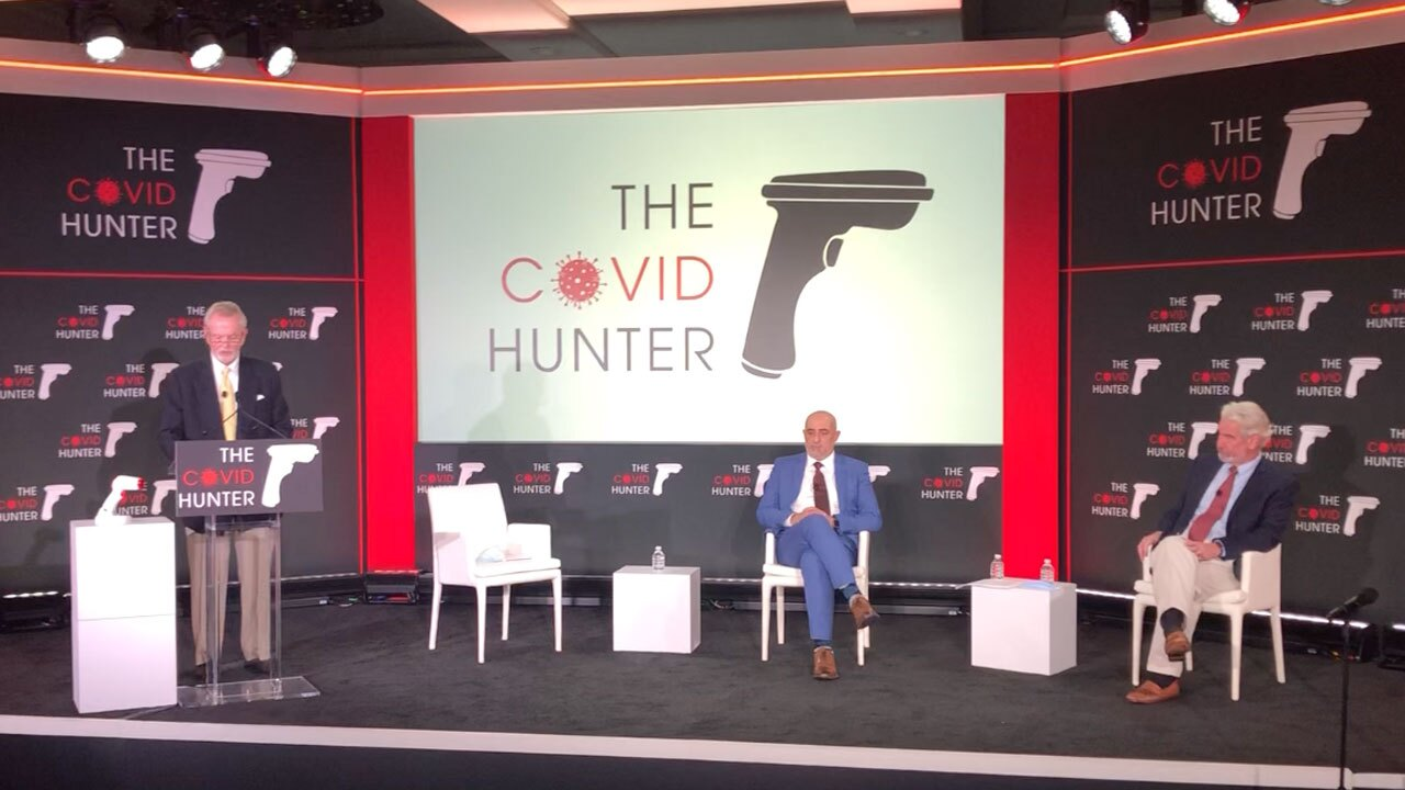News conference unveils COVID Hunter device
