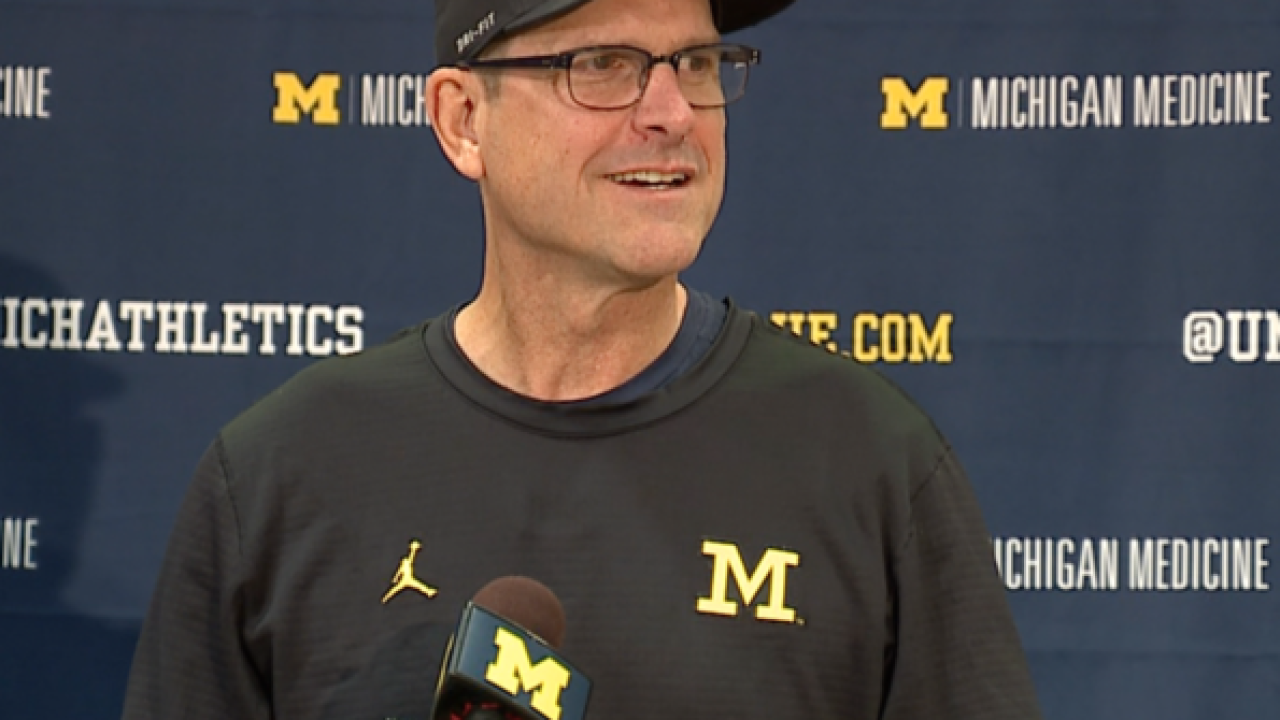 Jim Harbaugh doesn't expect Michigan players to be suspended