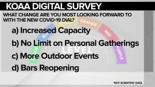 COVID 19 dial survey graphic