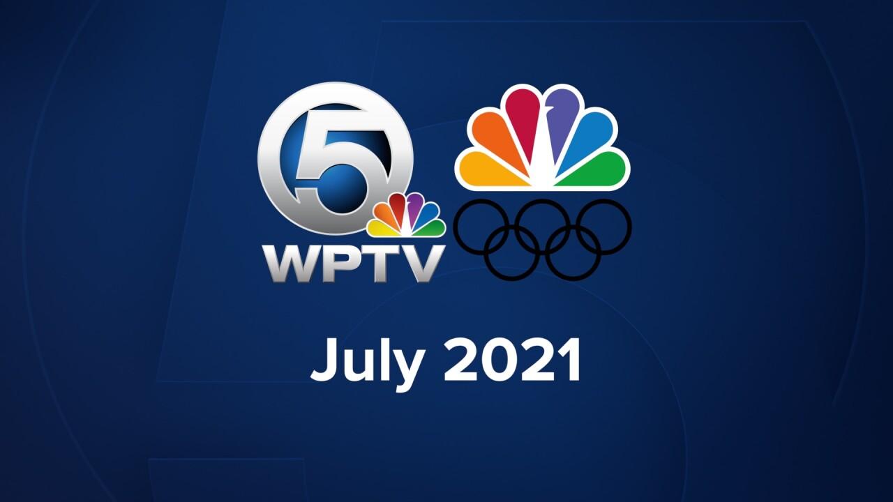 WPTV and NBC Olympics July 2021 logo