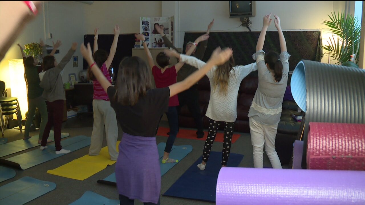 How a local middle school is using yoga to help their students