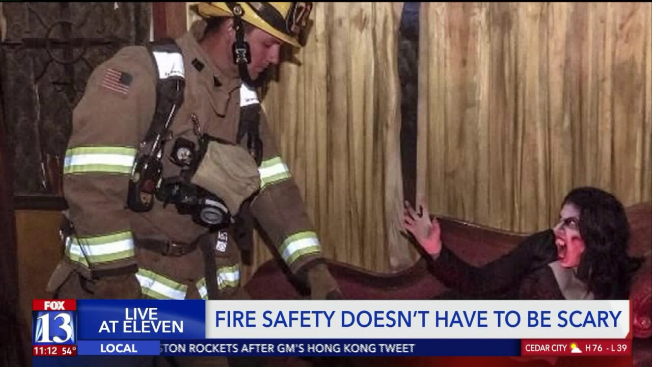 Frightening folks help firefighters spread safety message