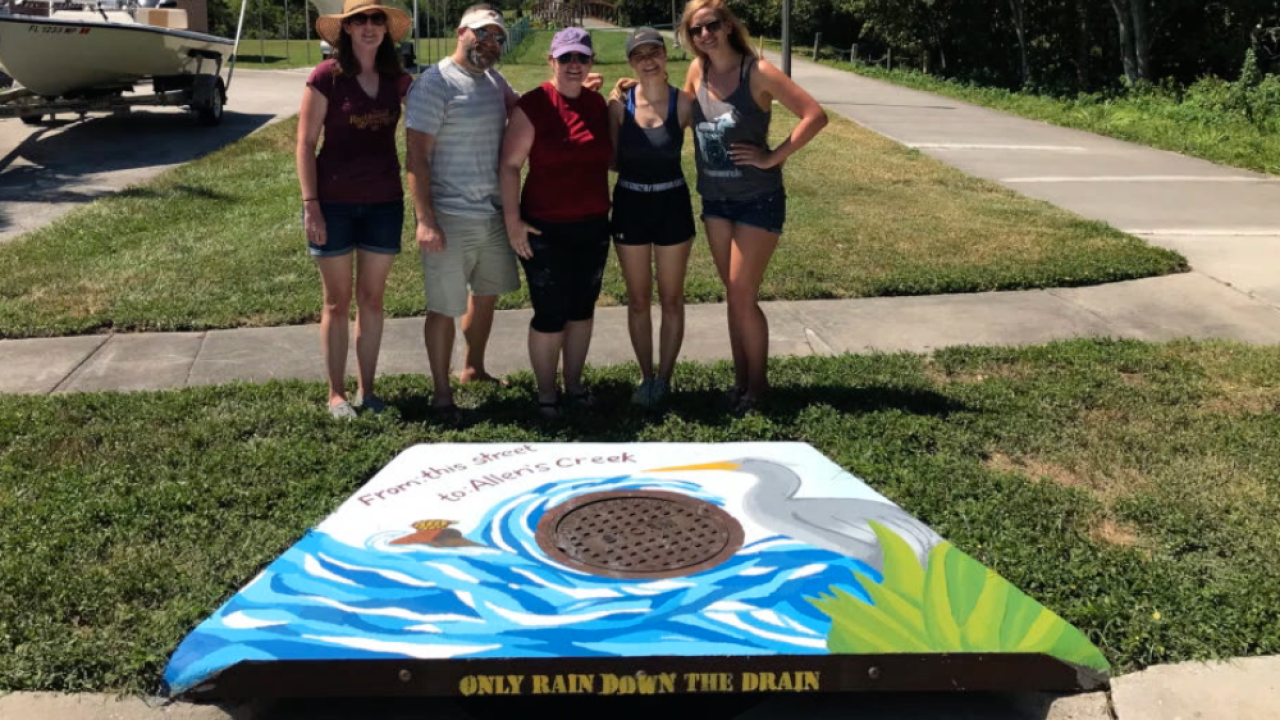 painted storm drain Clearwater