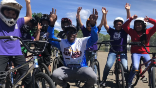 Biker starts program to keep kids off the streets by teaching the BMX sport