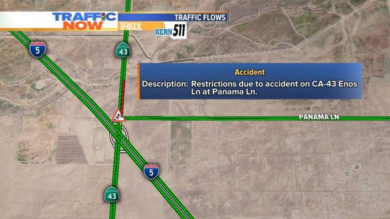 Collision between SUV, semi on Highway 43 slowed traffic