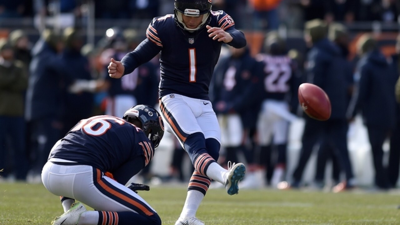 Chicago Bears kicker Cody Parkey hits upright four separate times in one game