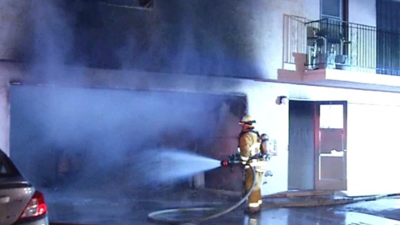 Family suspects condo fire set intentionally