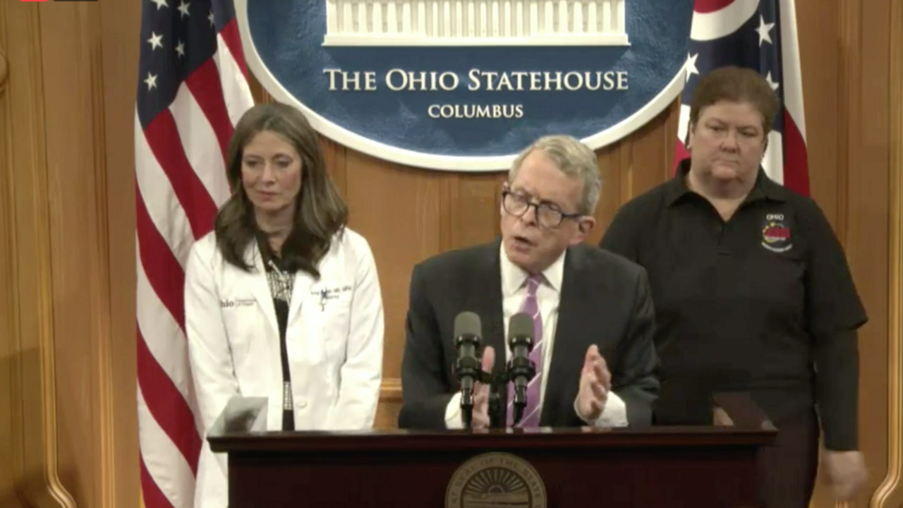 Gov. Mike DeWine and health official
