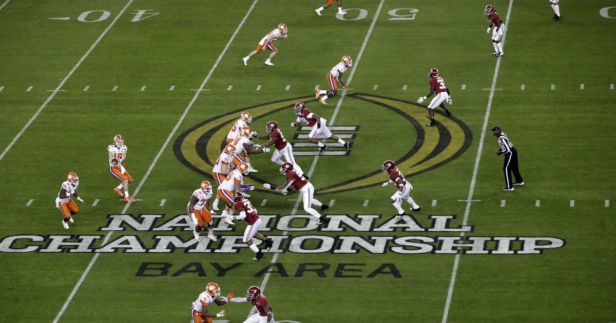College Football Playoff teams set; semifinal winners to meet in South Florida
