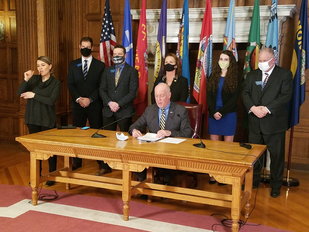 House Bill 102 signing ceremony
