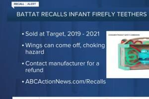 Infant teether sold at Target recalled due to choking hazard