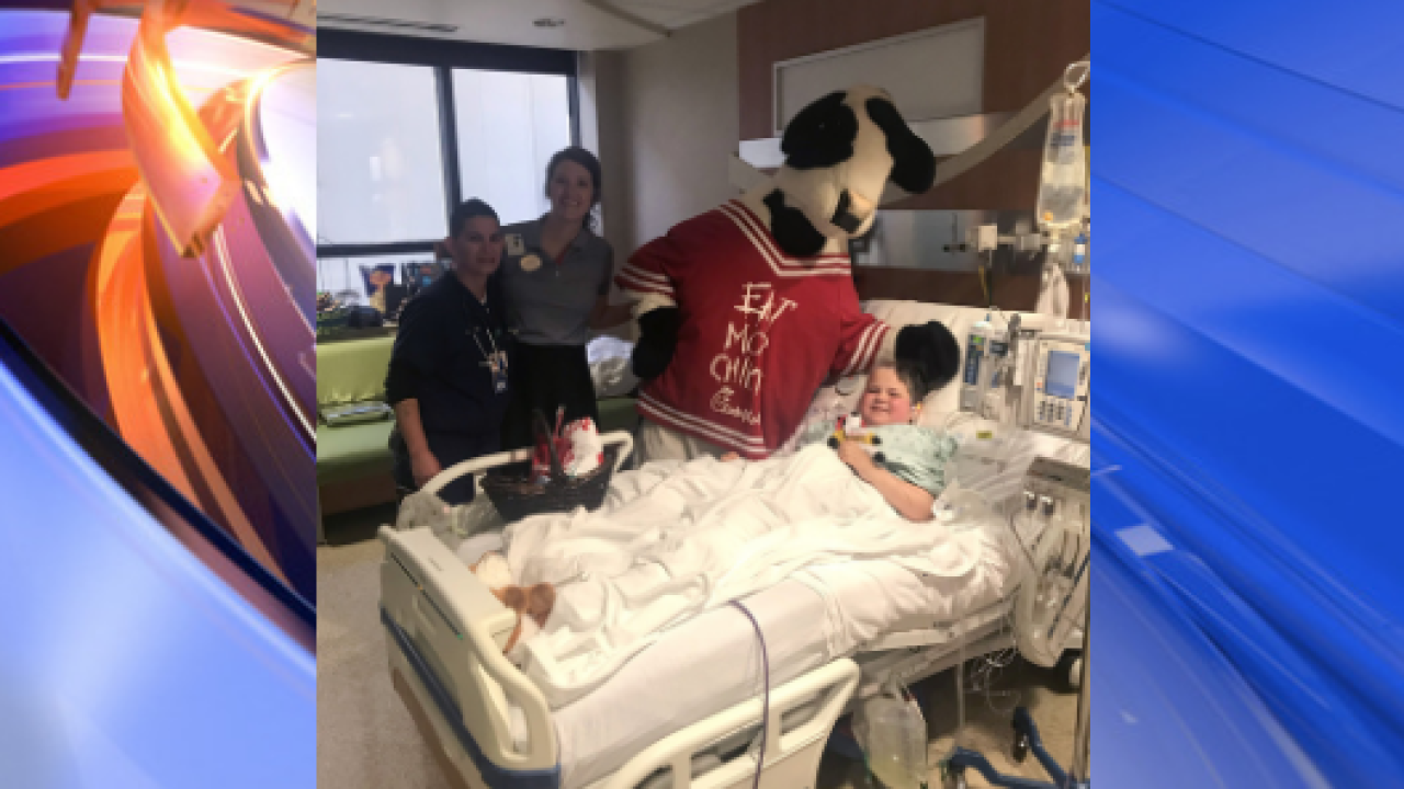 Chick-fil-A makes special Sunday delivery for boy battling brain tumor