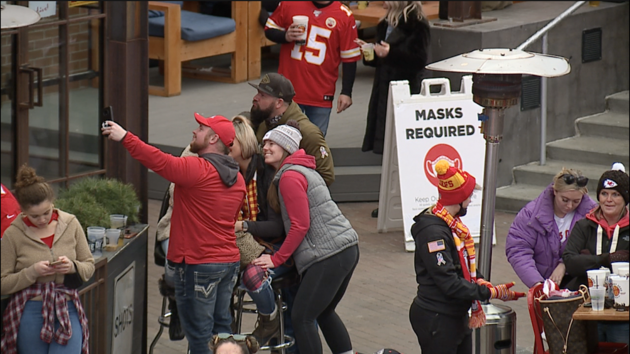 KC Chiefs Fan at Power and Light Watch Party
