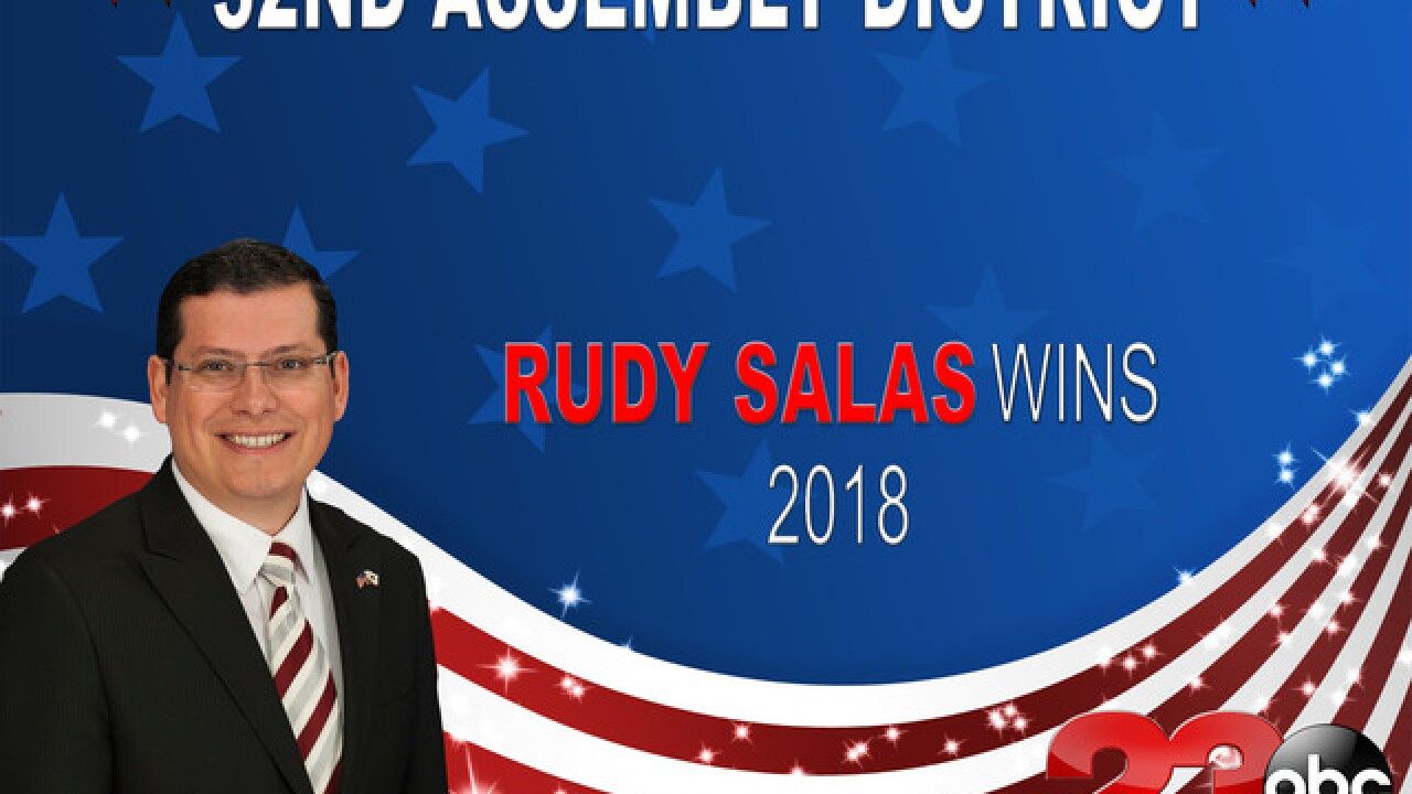Salas unofficially wins State Assembly District 32 race
