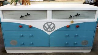 Adorable Dressers Are Painted To Look Like Vintage VW Buses