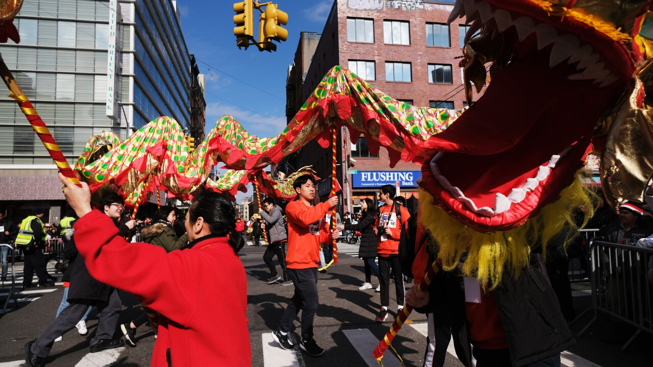 New York's Annual Lunar New Year Day Parade Winds Through Chinatown