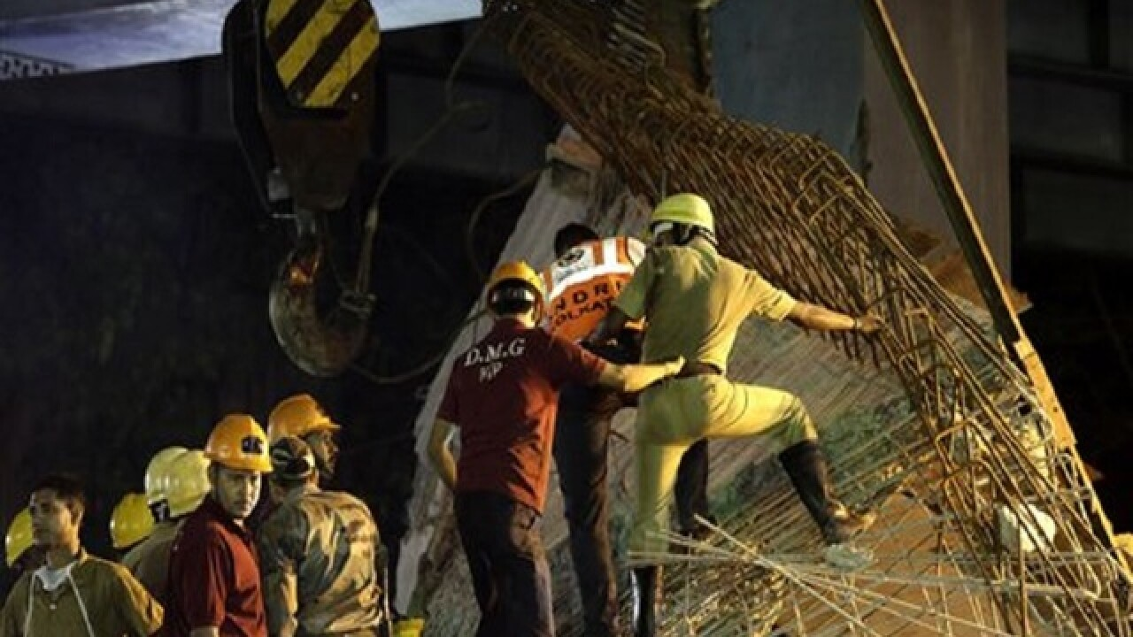 5 detained after Indian overpass collapse