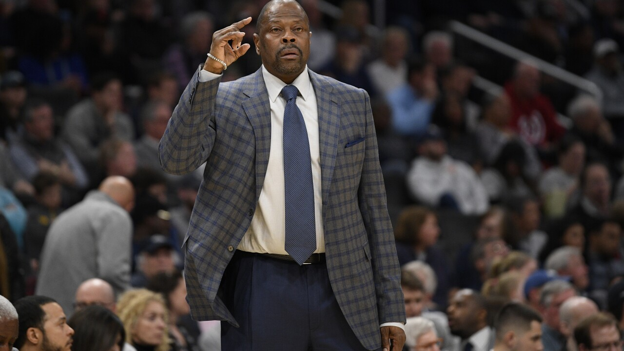 Knicks legend Patrick Ewing says he has been hospitalized after testing positive for COVID-19