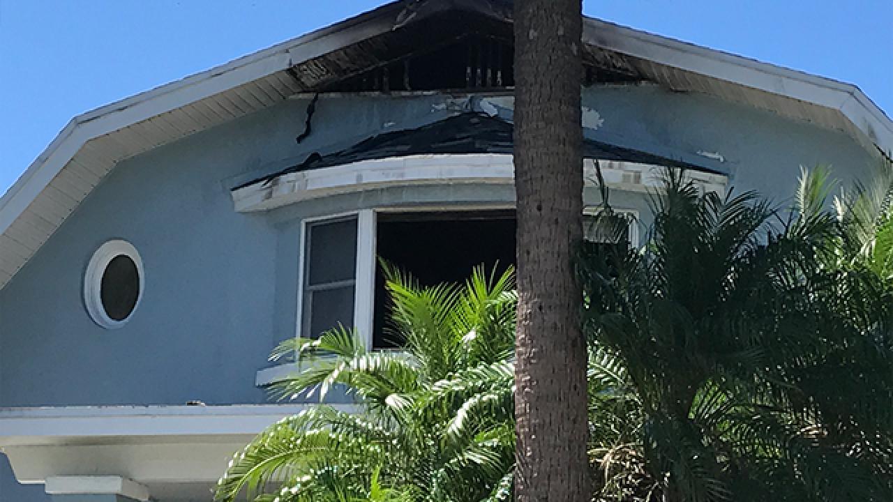 Lightning strike starts house fire in St. Pete