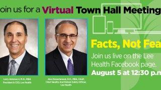Lee Health Virtual Town Hall, Aug. 5