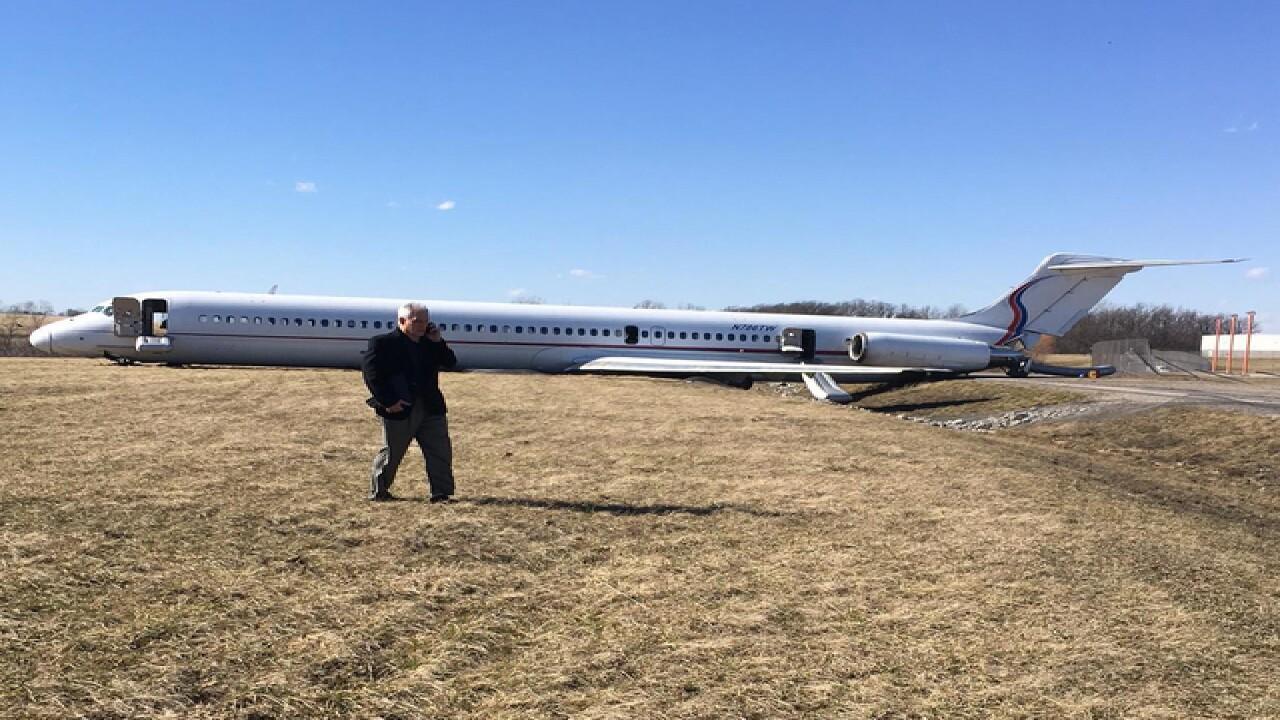 U-M basketball team plane slides off runway