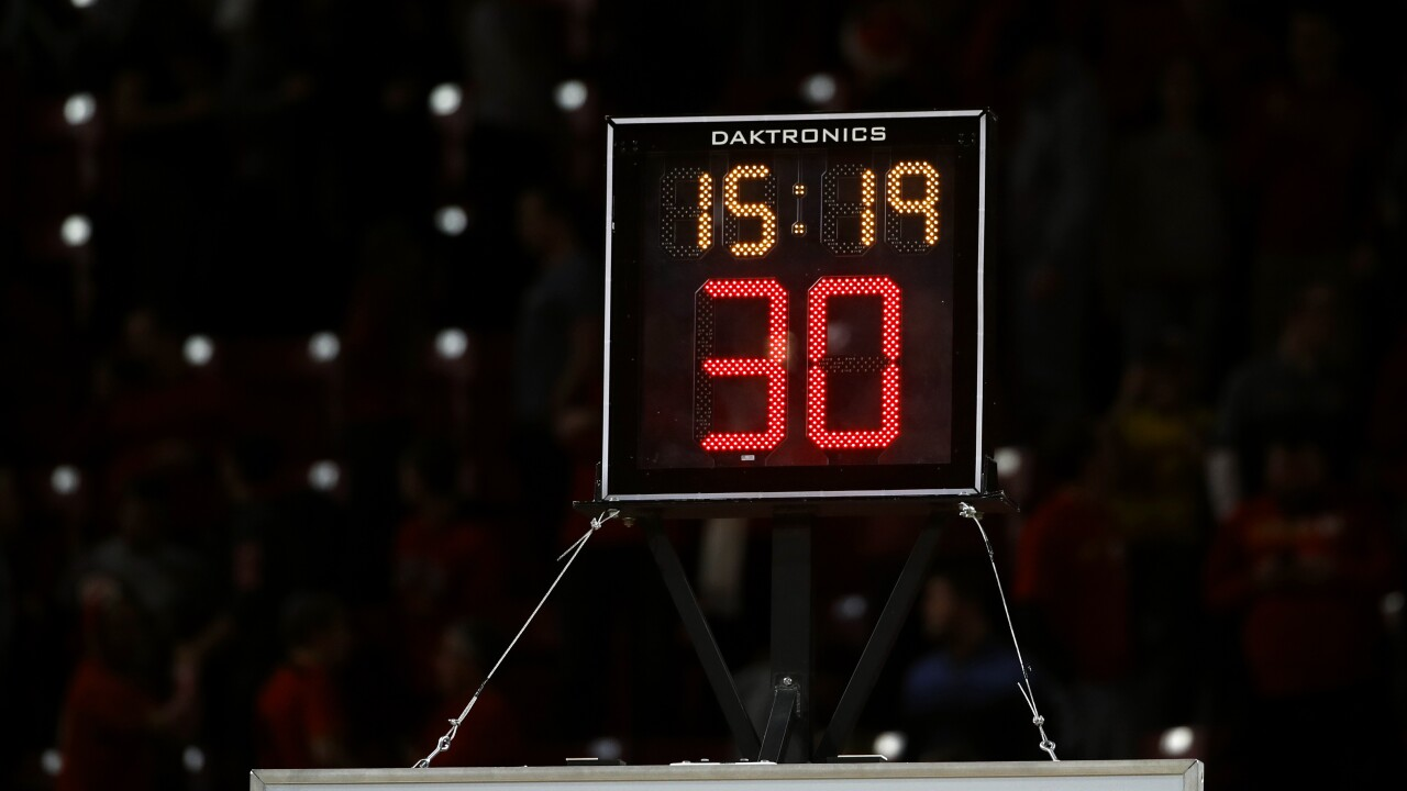 Shot clock malfunction suspends Hampton University's basketball game at Gardner-Webb