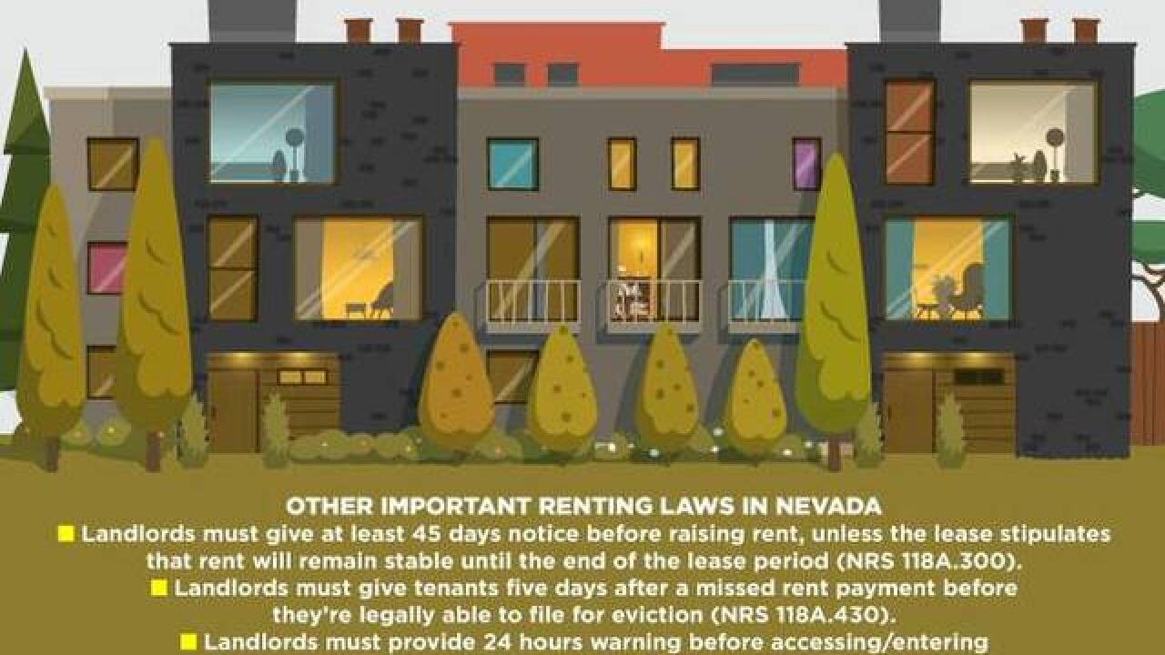 What are renters' rights in Las Vegas?