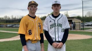 Agar brothers square off in Zeeland baseball showdown