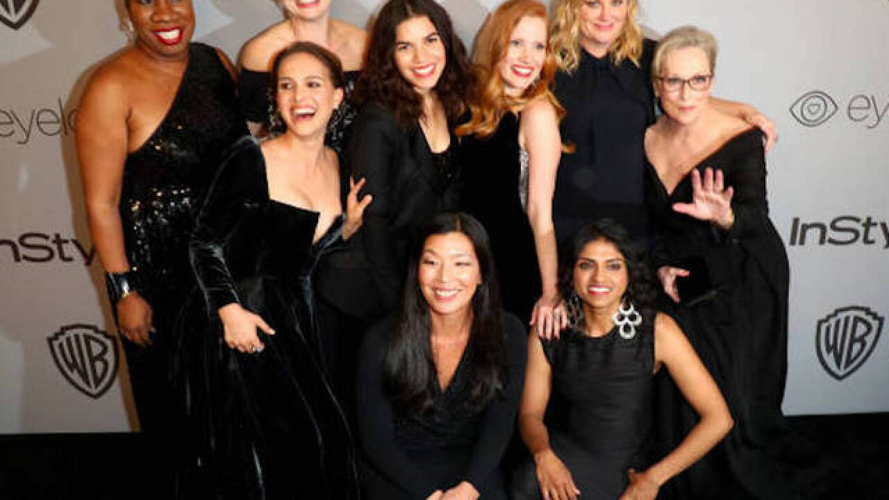 Dozens of celebs wore black to the Golden Globes. They won't for the Oscars. Here's why: