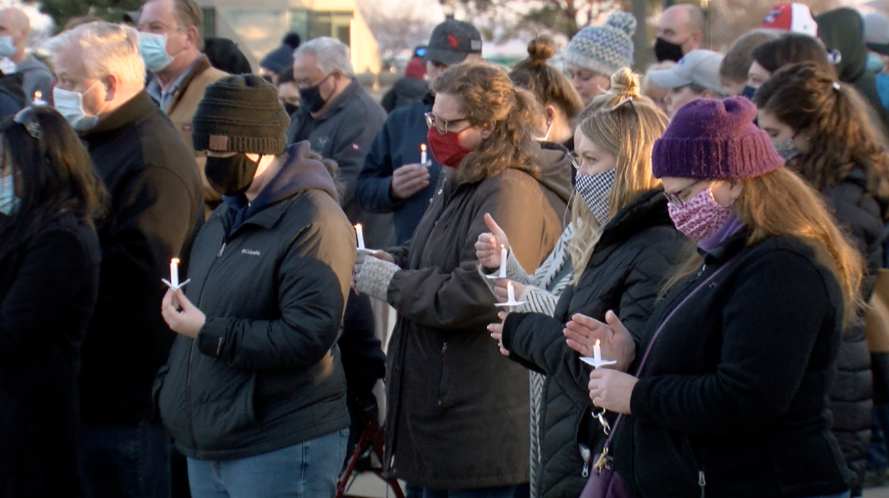 Candlelight vigil honoring victims in Roundy's distribution center shooting