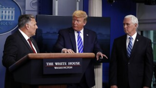 President Trump holds coronavirus news briefing after he addresses 'disinfectant' comments