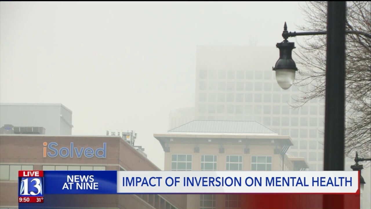 Feeling blue in the gray? How the inversion affects mentalhealth