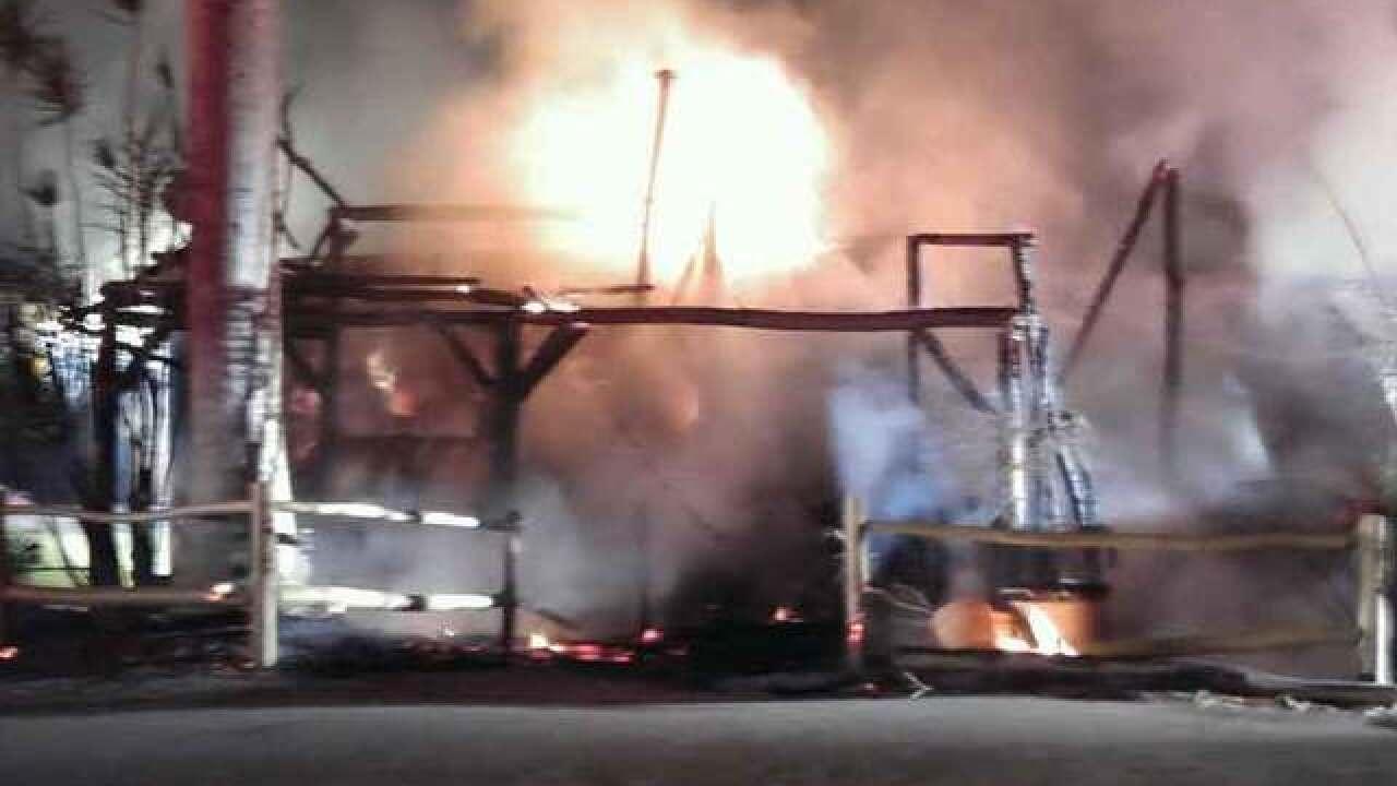 Fire investigated at RV park in western PBC