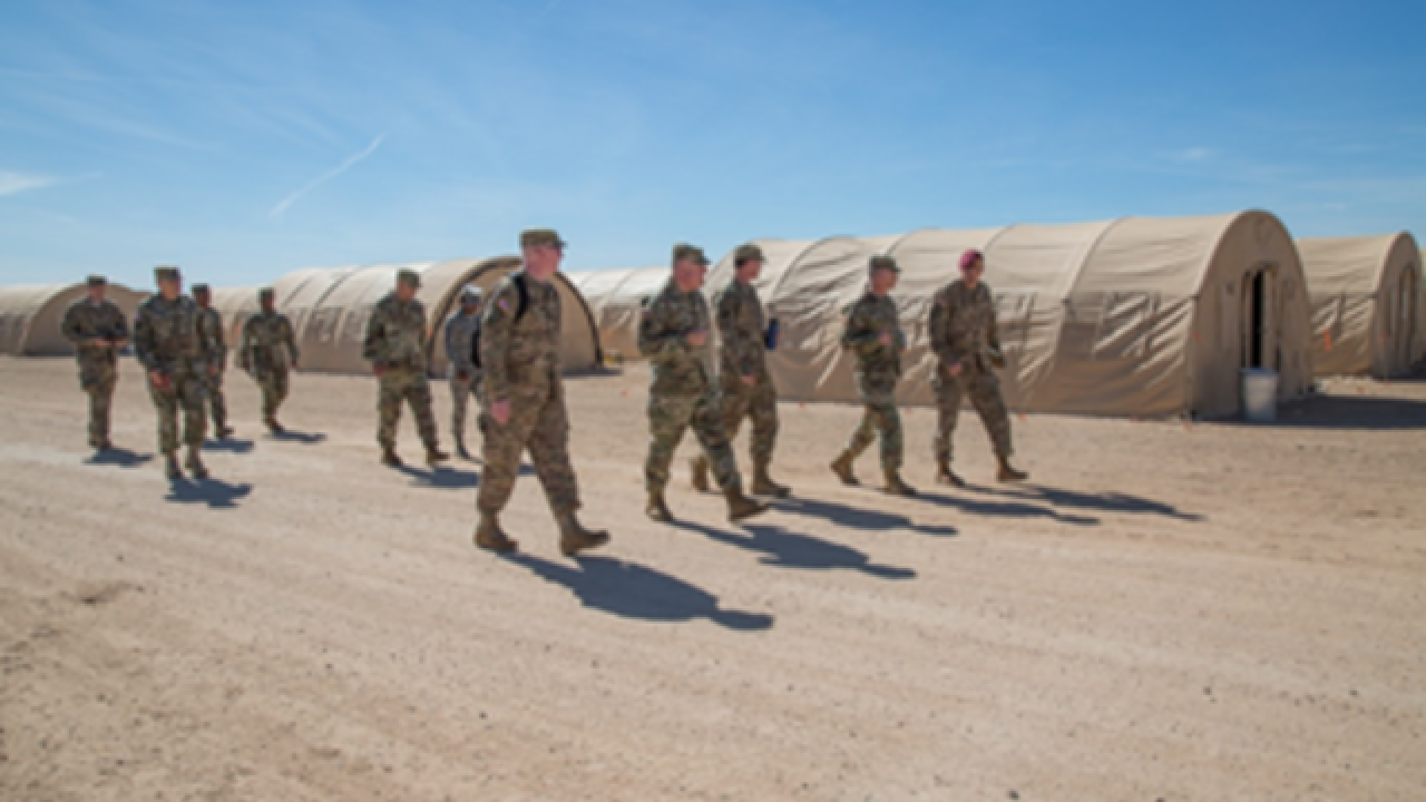 D-M tent to support troops deployed to border