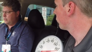 Shaun Gallagher and Dr. Mike Meyer in hot car