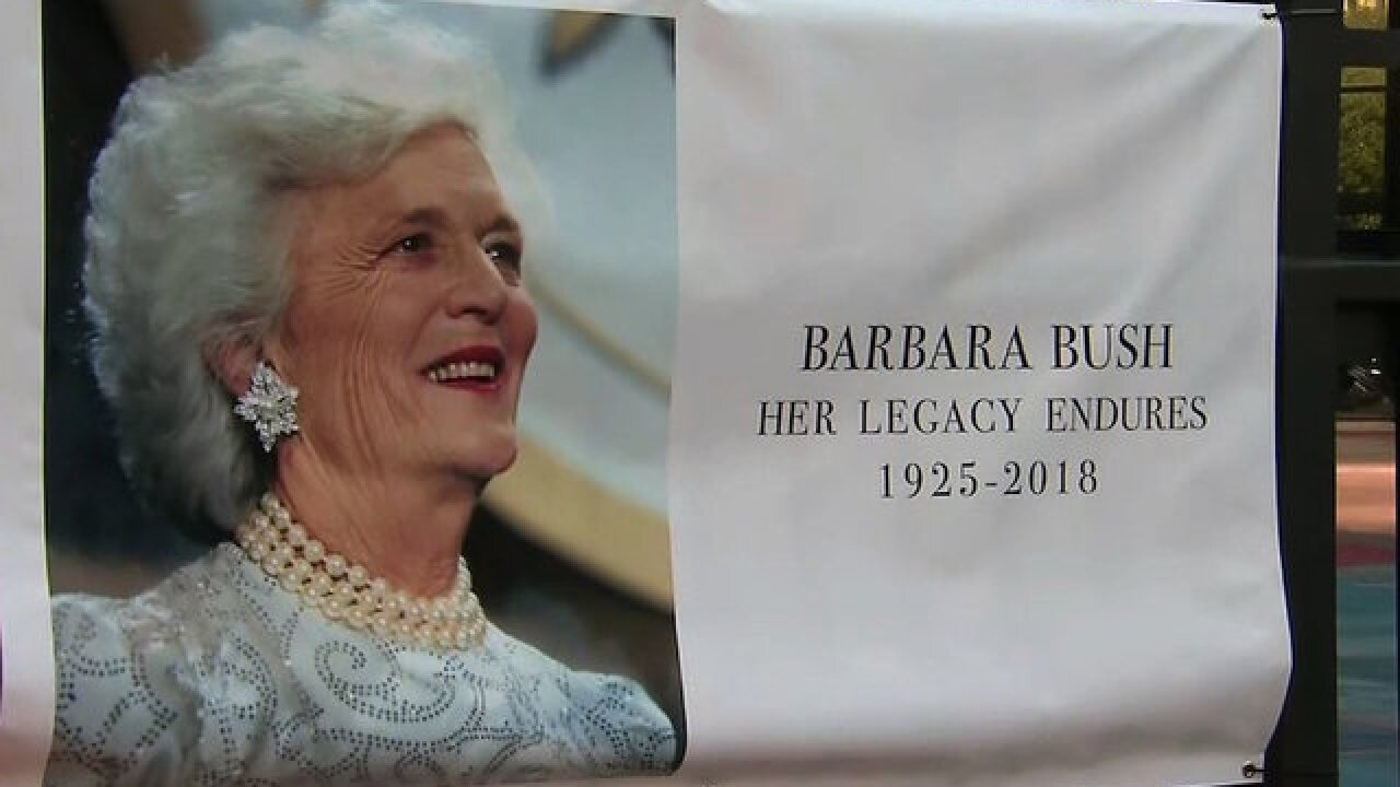 Barbara Bush's funeral draws more than 1,000 mourners to honor her life