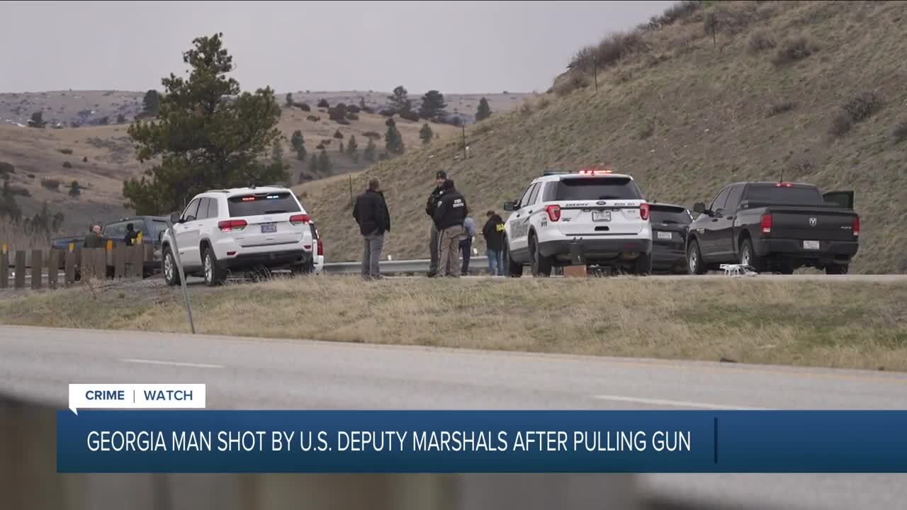 Fugitive shot after leading officers on chase