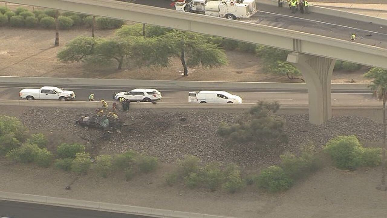 DPS: Driver dead after wrong-way crash near I-10/I-17 in Phoenix