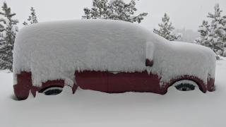 Heavy snowfall continues across central Montana